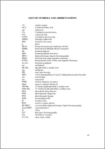 Where to put list of abbreviations in thesis