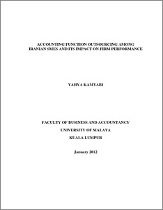 impact of outsourcing on organizational performance pdf
