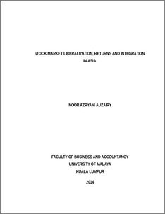phd thesis on stock market volatility Effects of macroeconomic dynamics on stock returns: case of  as a thesis for the degree of master of economics  we attempt to measure the stock exchange market .