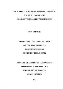 Semantic web services thesis