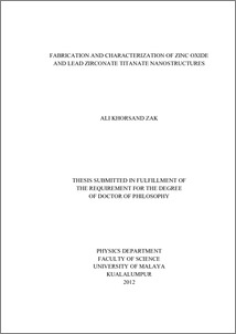 Phd thesis on zno